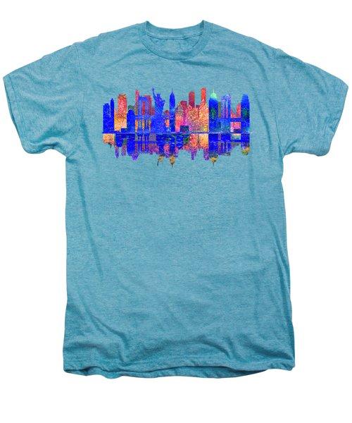 New York Skyline Men's Premium T-Shirt by John Groves