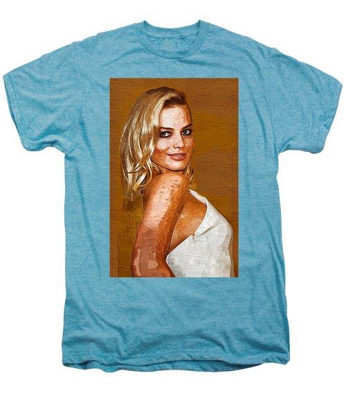 Margot Robbie Art Men's Premium T-Shirt by Best Actors