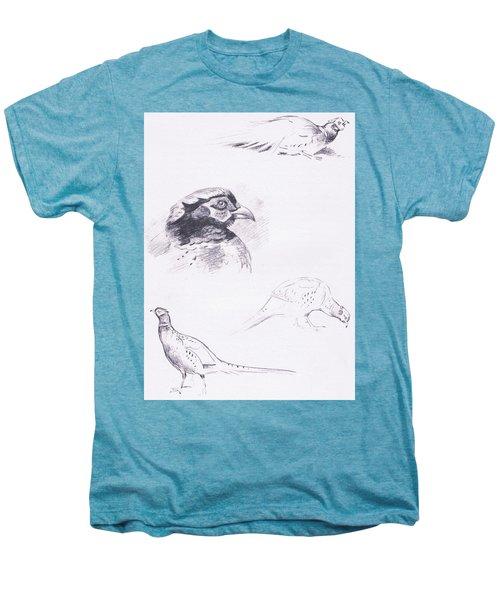 Pheasants Men's Premium T-Shirt by Archibald Thorburn