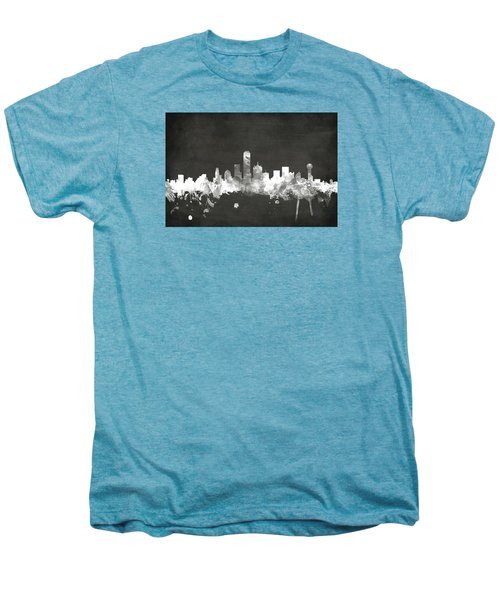 Dallas Texas Skyline Men's Premium T-Shirt by Michael Tompsett