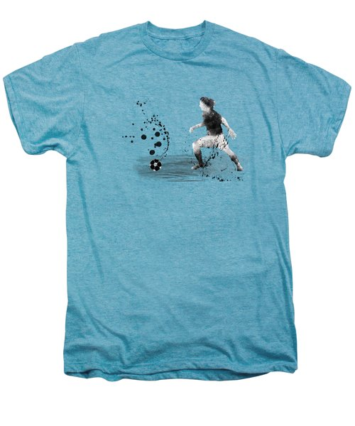 Football Player Men's Premium T-Shirt by Marlene Watson