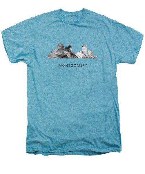 Montgomery Alabama Skyline Men's Premium T-Shirt by Marlene Watson