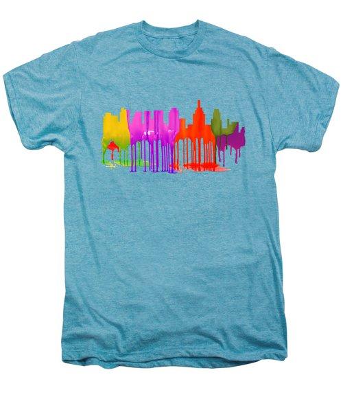 Philadelphia Pennsylvania Skyline Men's Premium T-Shirt by Marlene Watson