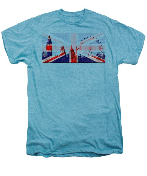 London Skyline Men's Premium T-Shirt by Michal Boubin