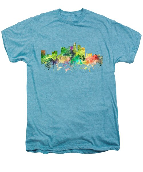 Los Angeles California Skyline Men's Premium T-Shirt by Marlene Watson