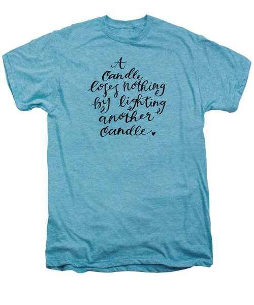 A Candle Men's Premium T-Shirt by Nancy Ingersoll