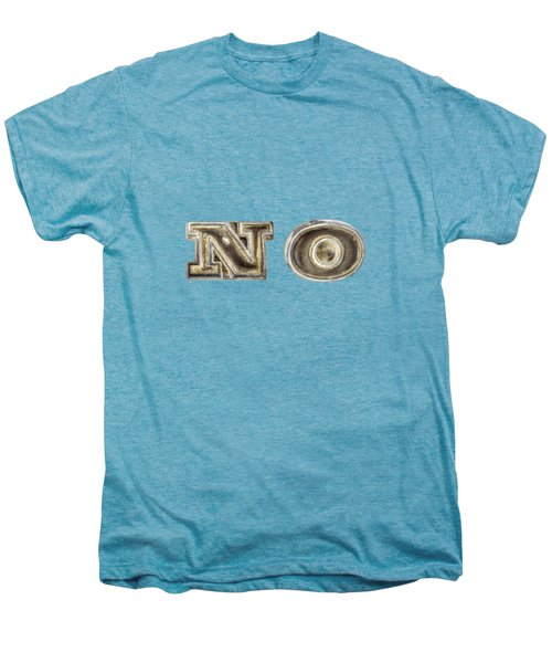 A Simple No Men's Premium T-Shirt by YoPedro