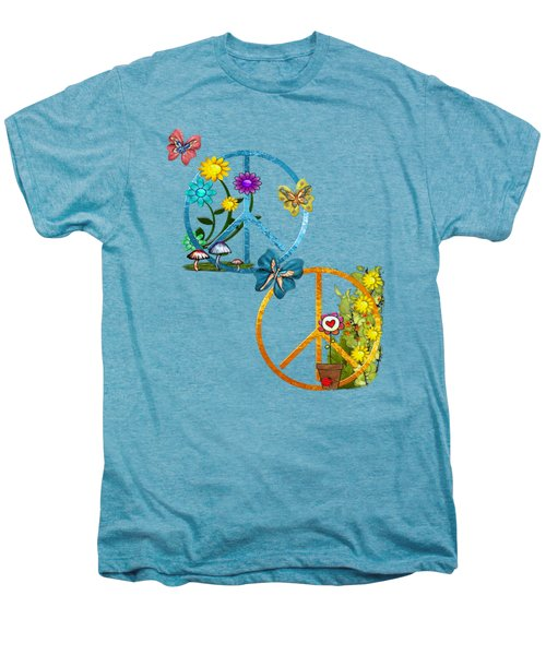 A Very Hippy Day Whimsical Fantasy Men's Premium T-Shirt by Sharon and Renee Lozen