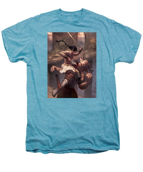 Above The Labyrinth  Men's Premium T-Shirt by Ethan Harris