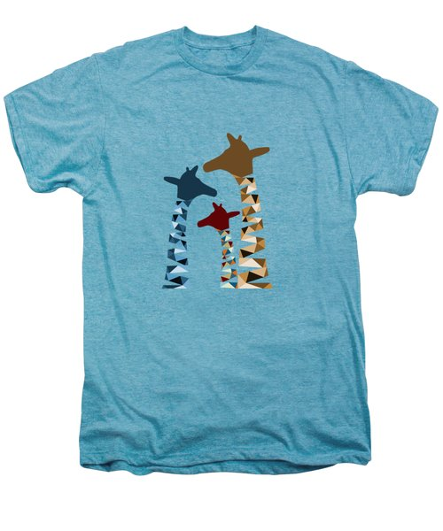 Abstract Colored Giraffe Family Men's Premium T-Shirt by Brigitte Carre