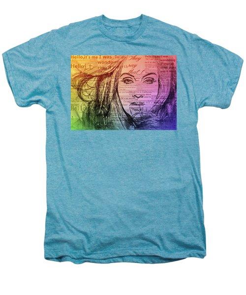 Adele Hello Typography  Men's Premium T-Shirt by Dan Sproul