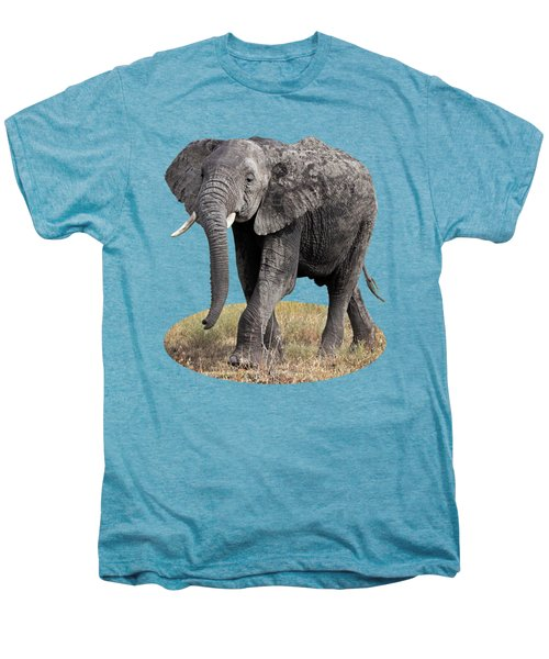 African Elephant Happy And Free Men's Premium T-Shirt by Gill Billington