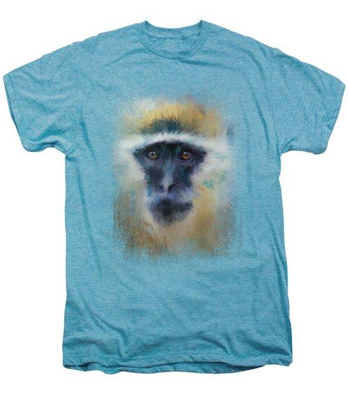 African Grivet Monkey Men's Premium T-Shirt by Jai Johnson
