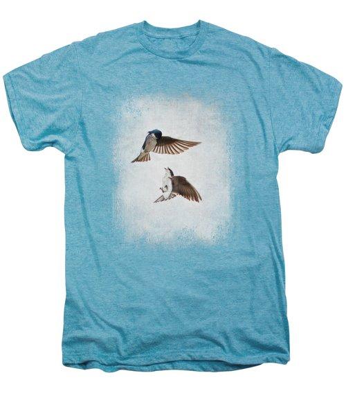 Airobatics - Tree Swallows Men's Premium T-Shirt by Jai Johnson