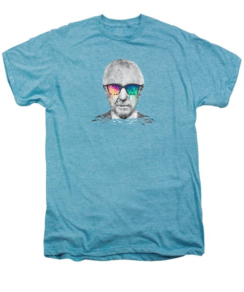 Albert Hofmann - Psychedelic Polygon Crystalised Portrait Men's Premium T-Shirt by Philipp Rietz