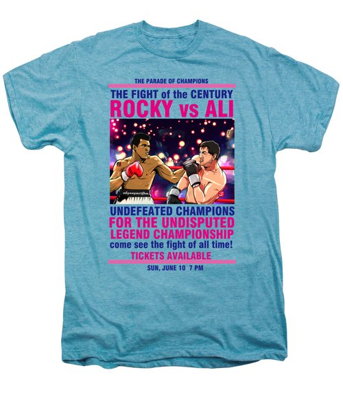 Ali Vs Rocky Men's Premium T-Shirt by Akyanyme