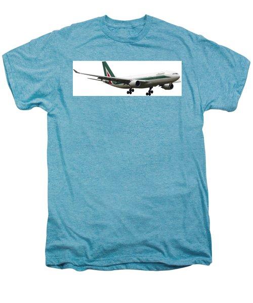 Alitalia, Airbus A330-202. Men's Premium T-Shirt by Amos Dor