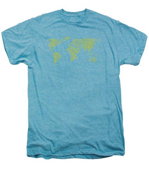 All The World Plays Tennis Men's Premium T-Shirt by Marlene Watson
