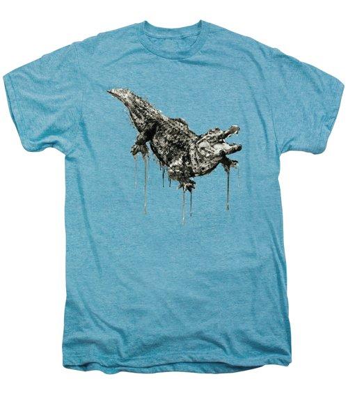 Alligator Black And White Men's Premium T-Shirt by Marian Voicu
