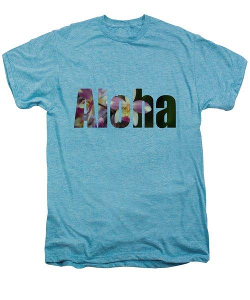 Aloha Orchids Type Men's Premium T-Shirt by Kerri Ligatich