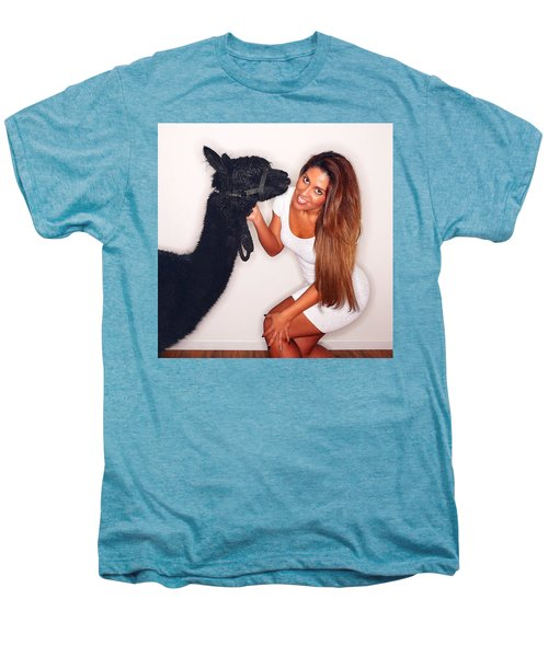 Alpaca Emily And Breanna Men's Premium T-Shirt by TC Morgan
