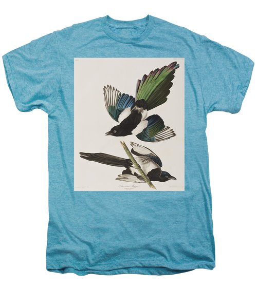 American Magpie Men's Premium T-Shirt by John James Audubon