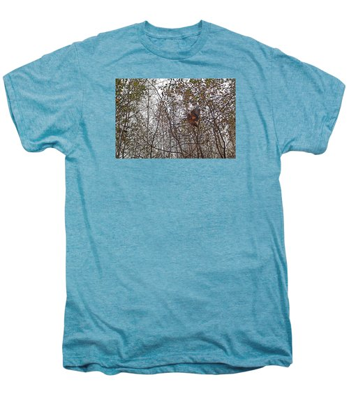 American Woodcock In October Foliage Men's Premium T-Shirt by Asbed Iskedjian