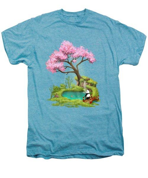 Anjing II - The Zen Garden Men's Premium T-Shirt by Carlos M R Alves
