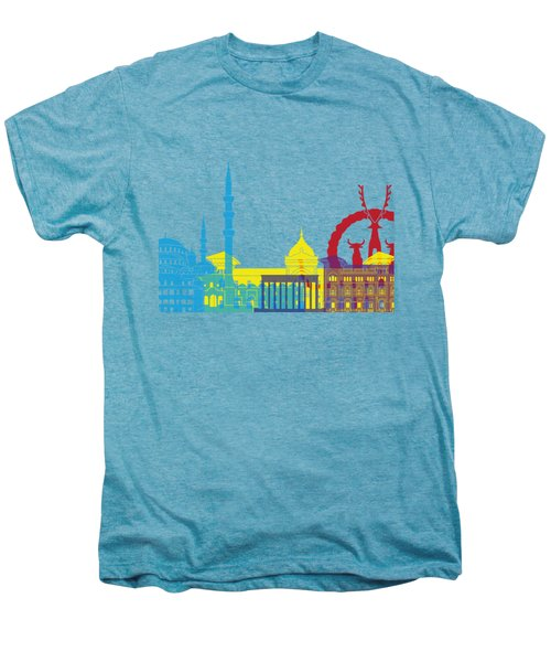 Ankara Skyline Pop Men's Premium T-Shirt by Pablo Romero