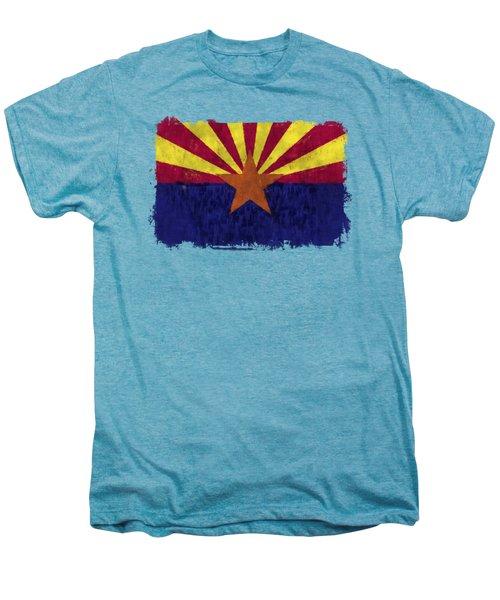 Arizona Flag Men's Premium T-Shirt by World Art Prints And Designs