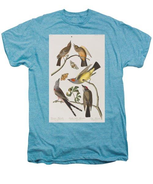 Arkansaw Flycatcher Swallow-tailed Flycatcher Says Flycatcher Men's Premium T-Shirt by John James Audubon