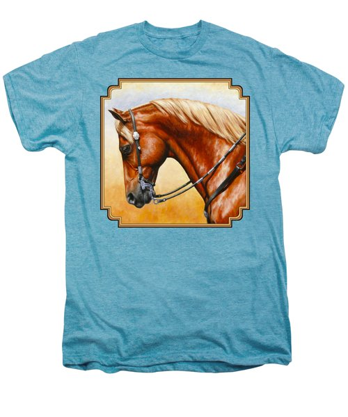 Precision - Horse Painting Men's Premium T-Shirt by Crista Forest