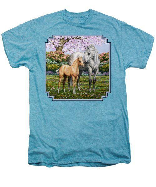Spring's Gift - Mare And Foal Men's Premium T-Shirt by Crista Forest