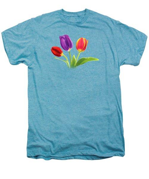 Tulip Trio Men's Premium T-Shirt by Sarah Batalka