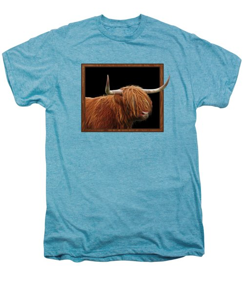 Bad Hair Day - Highland Cow - On Black Men's Premium T-Shirt by Gill Billington