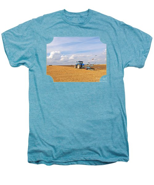 Ploughing After The Harvest Men's Premium T-Shirt by Gill Billington