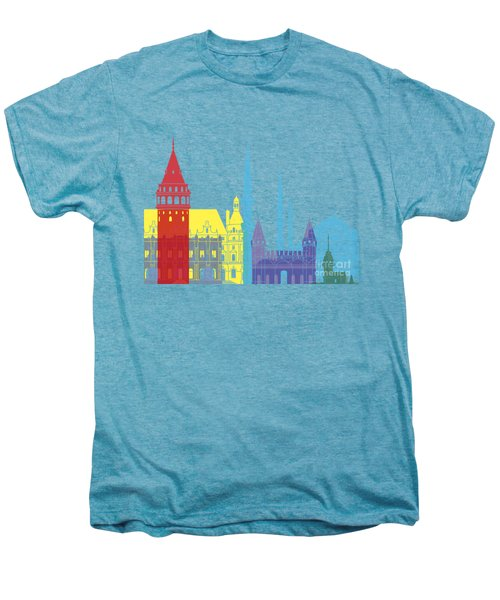 Istanbul Skyline Pop Men's Premium T-Shirt by Pablo Romero