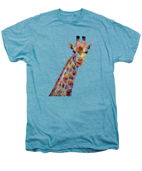Giraffe Men's Premium T-Shirt by Hailey E Herrera
