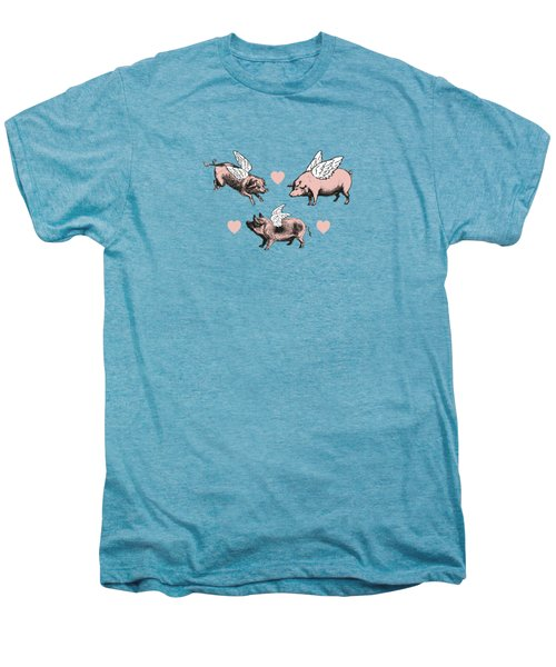 Vintage Flying Pigs Men's Premium T-Shirt by Eclectic at HeART