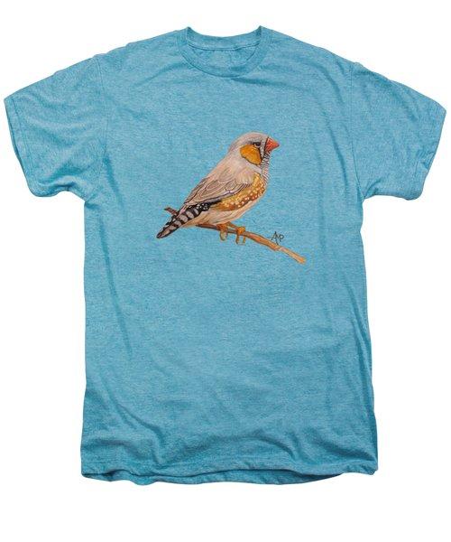 Zebra Finch Men's Premium T-Shirt by Angeles M Pomata