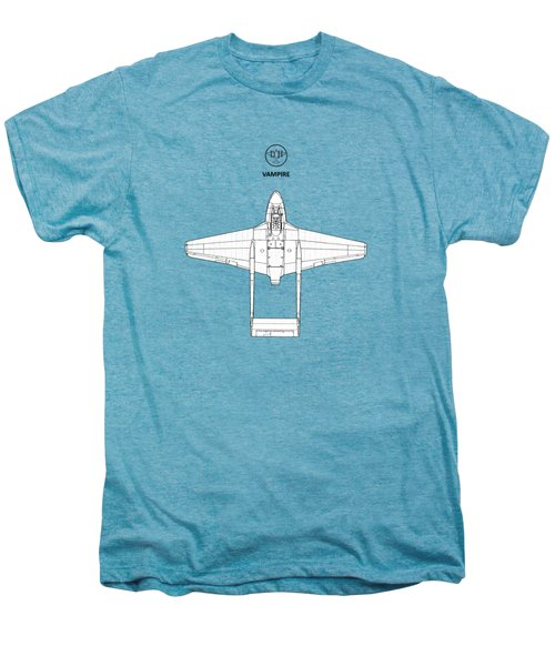 The De Havilland Vampire Men's Premium T-Shirt by Mark Rogan