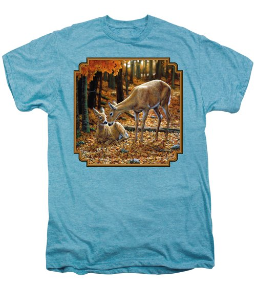 Whitetail Deer - Autumn Innocence 2 Men's Premium T-Shirt by Crista Forest