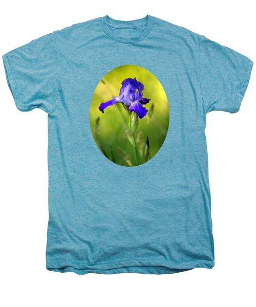 Violet Iris Men's Premium T-Shirt by Christina Rollo