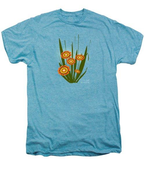 Orange Flowers Men's Premium T-Shirt by Anastasiya Malakhova