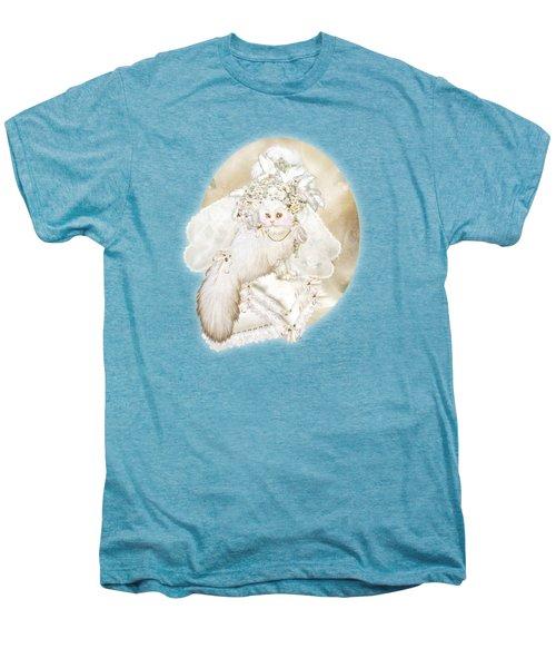 Cat In Fancy Bridal Hat Men's Premium T-Shirt by Carol Cavalaris