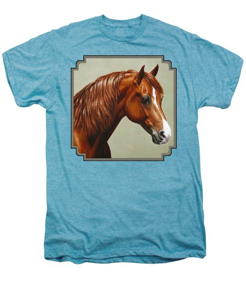 Morgan Horse - Flame Men's Premium T-Shirt by Crista Forest