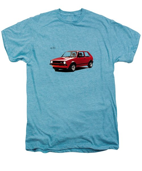 Vw Golf Gti 1976 Men's Premium T-Shirt by Mark Rogan