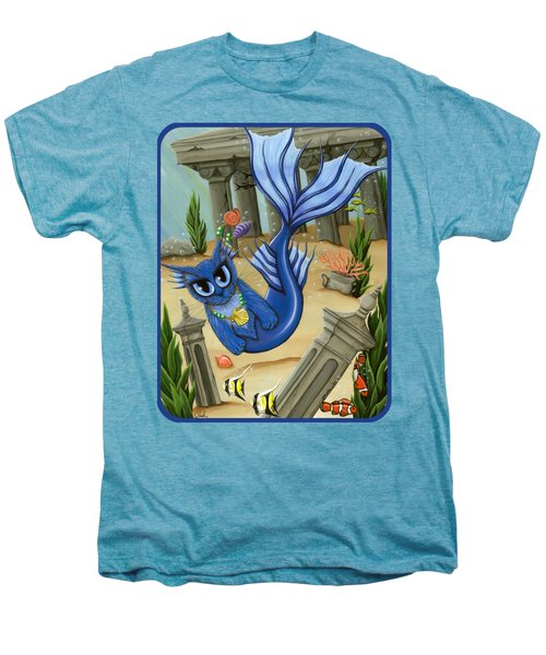 Atlantean Mercat Men's Premium T-Shirt by Carrie Hawks
