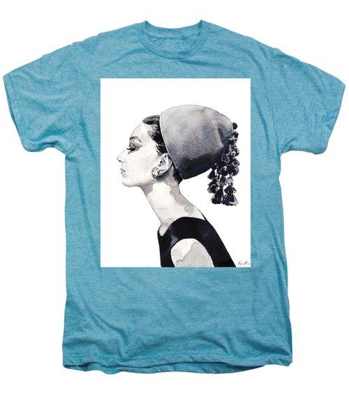 Audrey Hepburn For Vogue 1964 Couture Men's Premium T-Shirt by Laura Row