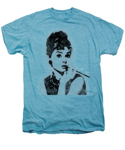 Audrey Hepburn Portrait 04 Men's Premium T-Shirt by Pablo Romero